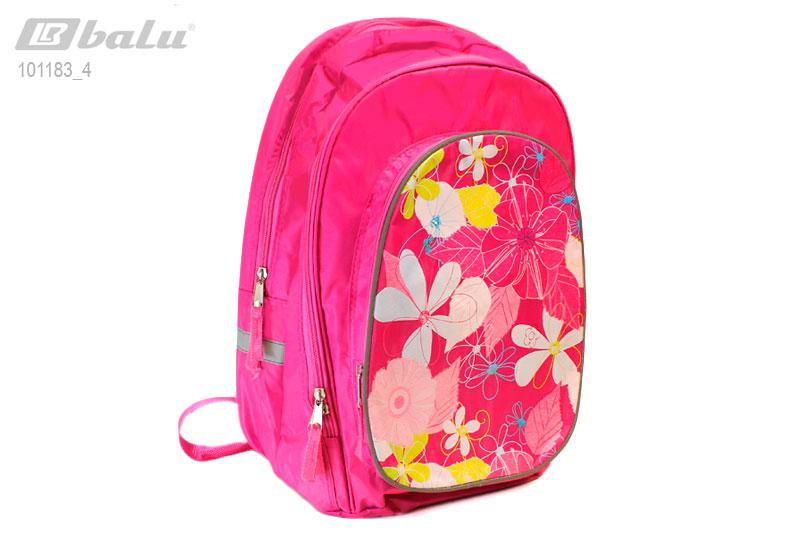 """Рюкзак школьный розовый  """"Цветы """" 1-5 класс."""